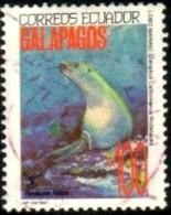Galapagos Islands Wildlife, Sea Lion (Zalophus Wollebaeki), Ecuador Stamp SC#1283 Used - Equateur