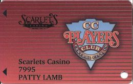 Scarlets & Teller House Casinos Central City CO Slot Card  (Printed) - Casino Cards