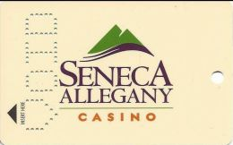 Seneca Allegany Casino - Allegany NY - Slot Card - Manufacturer Sample With VOID Punched - Carte Di Casinò