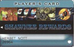 Shawnee Rewards Player's Card - Thunderbird & Shawnee Casinos In Oklahoma - Slot Card - Casino Cards