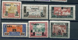 TANNU TUVA YR 1932,SC 29-34,MLH *,SURCHARGED W/NEW VALUE - Tuva