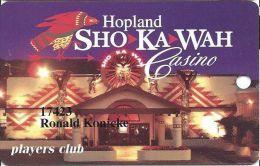 Sho Ka Wah Casino Hopeland CA - Printed Slot Card - Casino Cards