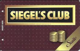 Siegel Slots & Suites Las Vegas, NV - Siegel´s Club Suite Card (Blank) - Casino Cards