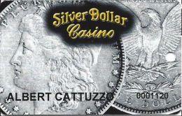 Silver Dollar Casino - Carson City, NV - PRINTED Slot Card - Casino Cards