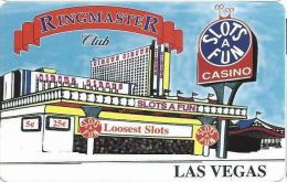 Slots A Fun Casino Las Vegas, NV - Ringmaster Club Slot Card (BLANK) - Cartes De Casino