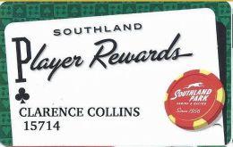 Southland Park Gaming - W. Memphis, AR - Player Rewards Card - Casino Cards
