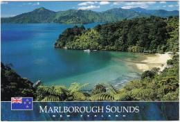 Becks Bay In Queen Charlotte Sound, Marlborough Sounds - New Zealand  - STAMP/TIMBRE: $1.50 - Banded - Sea-snake - Nieuw-Zeeland