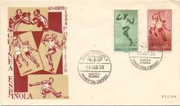 GUINEA ESPANOLA  SANTA ISABEL 1958 FDC  (F160159) - Francobolli