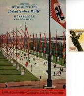 DUSSELDORF, SCHAFFENDES VOLK, AUSSTELLUNG, EXHIBITION, +, REKLAMEMARKE, CINDERELLA, VIGNETTE, LABEL, 1937, DIM 14,7X21 - Werbung