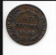 HAITI - 2 Centimes 1840  - AN37 - Haïti