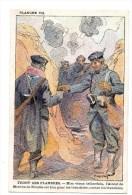 CHROMO Alcool De Menthe De Ricqlès Charles Fouqueray Sodats Guerre Tranchée Front Des Flandres - Non Classificati
