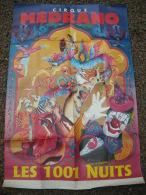 CIRQUE - Affiche Cirque MEDRANO - Les 1001 NUITS - 1989