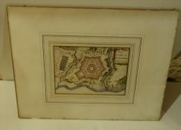 @ ANCIENNE CARTE GEOGRAPHIQUE. PLAN DE LA VILLE DE CHARLEROI BELGIQUE AU 17 ème Ou 18 ème SIECLE - Geographical Maps