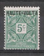 HAUTE VOLTA  TAXE / Postage Due 1920 , Yvert N° 1 , 5 C Vert  Neuf *, MH , TB - Haute-Volta (1920-1932)