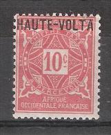 HAUTE VOLTA  TAXE / Postage Due 1920 , Yvert N° 2 , 10 C Rose  Neuf *, MH , TB - Haute-Volta (1920-1932)