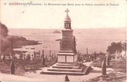 DOUARNENEZ (29) Le Monument Aux Morts Pour La Patrie , Cimetière De TREBOUL En 1932 - Douarnenez