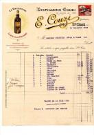 Correspondance Facture DISTILLERIE COUZI  ST CERE Lot 1933 - Food