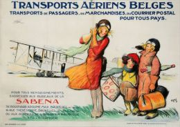 Postcard - Poster Reproduction - SABENA Transports Aériens Belges (P-0123) - Publicité