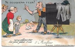 Ne Bougeons Plus ! Nous Allons Voir Les Plus Jolies Vues D' HONFLEUR L - CARTE A SYSTEME - Honfleur