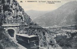 Pierrefitte - Le Tunnel - Route De Pierrefitte à Cauterets - Train Sortant Du Tunnel - Carte CAP N°4 Non Circulée - Trains