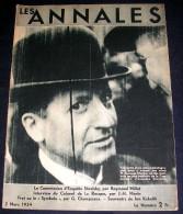 LES ANNALES. 1934. 2485. STAVISKY. COLONEL DE LA ROCQUE. FROT. .JAN KUBELIK. MANDEL. - Informations Générales
