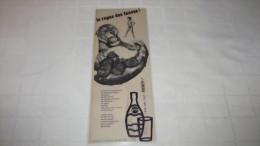 PUBLICITE PLASTIFIEE ANNEE 1954 - PERRIER - L'EAU QUI FAIT PSCHITT ! - LE REPAS DES FAUVES ! - Publicités