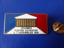 Pin's Arthus Bertrand - Journée Portes Ouvertes à L'assemblée Nationale 1991 (AA37) - Arthus Bertrand