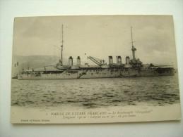MARINE MILITAIRE FRANCAISE - VERGNIAUD   BATTLE SHIP    MARINA  MILITARE  WARSHIP NON  VIAGGIATA  FORMATO PICCOLO - Guerra