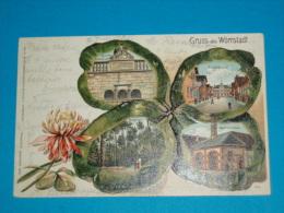 Allemagne ) Gruss Aus Worrstadt - Multivus  N° 6441 - Année 1905  - EDIT : - Germany