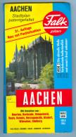 Landkarte Stadtplan Aachen Falk Plan 1994/1995 31. Auflage Heerlen Vaals Kelmis Herzogenrath Alsdorf Würselen Stolberg - Maps Of The World