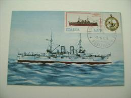 1978 CORRAZZATA BENEDETTO BRIN   BATTLE SHIP  MARINA  MILITARE  REGGIO CALABABRIA  MAXIMUM COVER PRIMO GIORNO  FIRST DAY - Warships