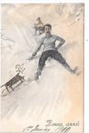 Personnes Faisant De La Luge - Illustrateur VK VIENNE 5059 - Vienne