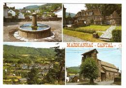 15 MARMANHAC Vers Jussac Aurillac En 4 Vues De 1988 Fontaine Château De La Voulte Vue Générale Eglise - Jussac