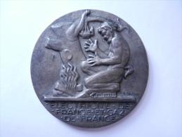 MEDAILLE ELECTRICITE GAZ DE FRANCE 1948 - Professionnels / De Société