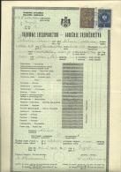 KINGDOM OF YUGOSLAVIA --  SCHOOL DIPLOMA, CERTIFICATE, GYMNASIA  --  1937  -- TIMBRE FISCAL, TAX STAMP - Diplome Und Schulzeugnisse