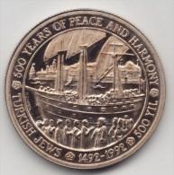 @Y@  Turkije   5000 Lira 1992   Proof   PEACE AND HARMONY   SAILING SHIP