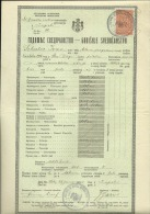 KINGDOM OF YUGOSLAVIA --  SCHOOL DIPLOMA, CERTIFICATE, GYMNASIA  --  1934  -- TIMBRE FISCAL, TAX STAMP - Diplome Und Schulzeugnisse