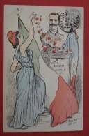 France - Italie - L'alliance Latine 1903 - Drapeaux Et Symbole - Union - Ill. Rostro - Eventi