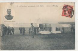 TOURY  L'Aéroplane Monoplan Louis Blériot Les Essais à Toury  Aviateur, Animée - France