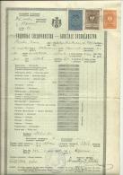 KINGDOM OF YUGOSLAVIA --    SCHOOL DIPLOMA, CERTIFICATE,  GYMNASIA   -- 1938  -- TIMBRE FISCAL, TAX STAMP - Diplome Und Schulzeugnisse