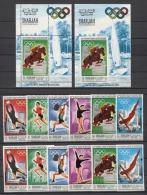 Sharjah Olympics Olympic Soccer JO 1968 Mi#489-94 A/B Bl#40 A/B + 6v Deluxe MNH - Sommer 1968: Mexico