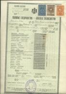 KINGDOM OF YUGOSLAVIA  --     SCHOOL DIPLOMA, CERTIFICATE, GYMNASIA    1936  -- TIMBRE FISCAL, TAX STAMP - Diplome Und Schulzeugnisse