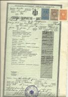 KINGDOM OF YUGOSLAVIA  --     SCHOOL DIPLOMA, CERTIFICATE, FEMALE CIVIL SCHOOL    1937  -- TIMBRE FISCAL, TAX STAMP - Diplome Und Schulzeugnisse