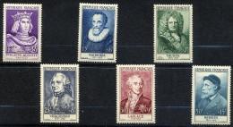 FRANCE 1955 Y&T * 1027 à 1032 Célébrités - Philippe Auguste-Malherbe-Vauban-Vergennes-Laplace-Renoir - Ungebraucht