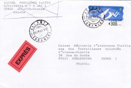 ATM On Cover: Spain 1999 Mi. 23.1 Aut. 1088 Express Cover From Illariz Orense (G81-60) - ATM - Frama (labels)