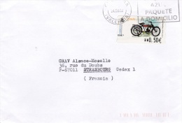 ATM On Cover: Spain 2002 Mi. 79.4 Aut. 5847 Posted Valencia  (G81-60) - ATM - Frama (labels)