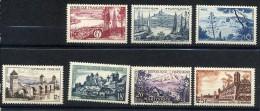 FRANCE 1955 Y&T * 1036 à 1042  Région Bordeaux-Marseille-Nice-Cahors-Uzerche-Martinique-Brouage - France