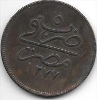 *egypte 20 Para 1277/5  Km 244  Vf+ - Egypte