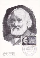 France N°1056 - Charles Tellier - Carte Maximum - Maximum Cards