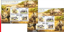 Burundi BL 0167** Et 167ND**  - Les Rhinocéros - MNH